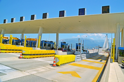 toll station - rio antirio patra greece